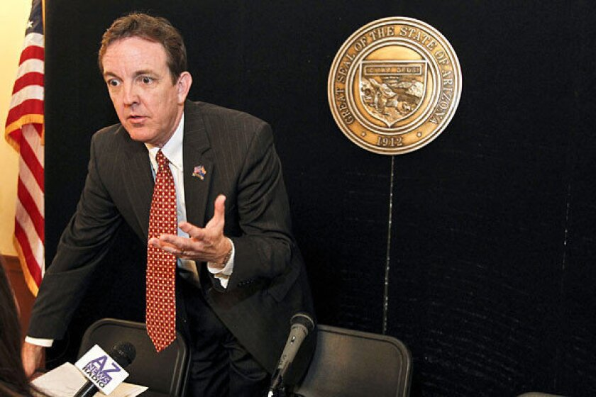 Arizona Secretary of State Ken Bennett is filling in this week for Gov. Jan Brewer, who is at an undisclosed location.