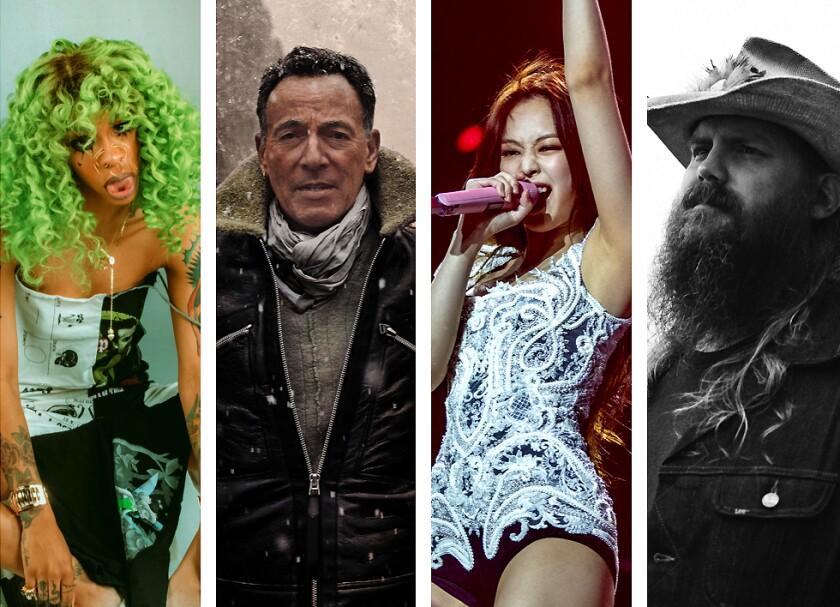 Rico Nasty, Bruce Springsteen, Blackpink's Jennie and Chris Stapleton