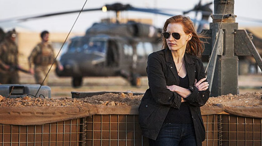 """Jessica Chastain plays a member of the elite team of spies and military operatives who devote themselves to finding Osama Bin Laden in """"Zero Dark Thirty."""" Sens. Dianne Feinstein, John McCain and Carl Levin said they found aspects of the movie to be misleading."""