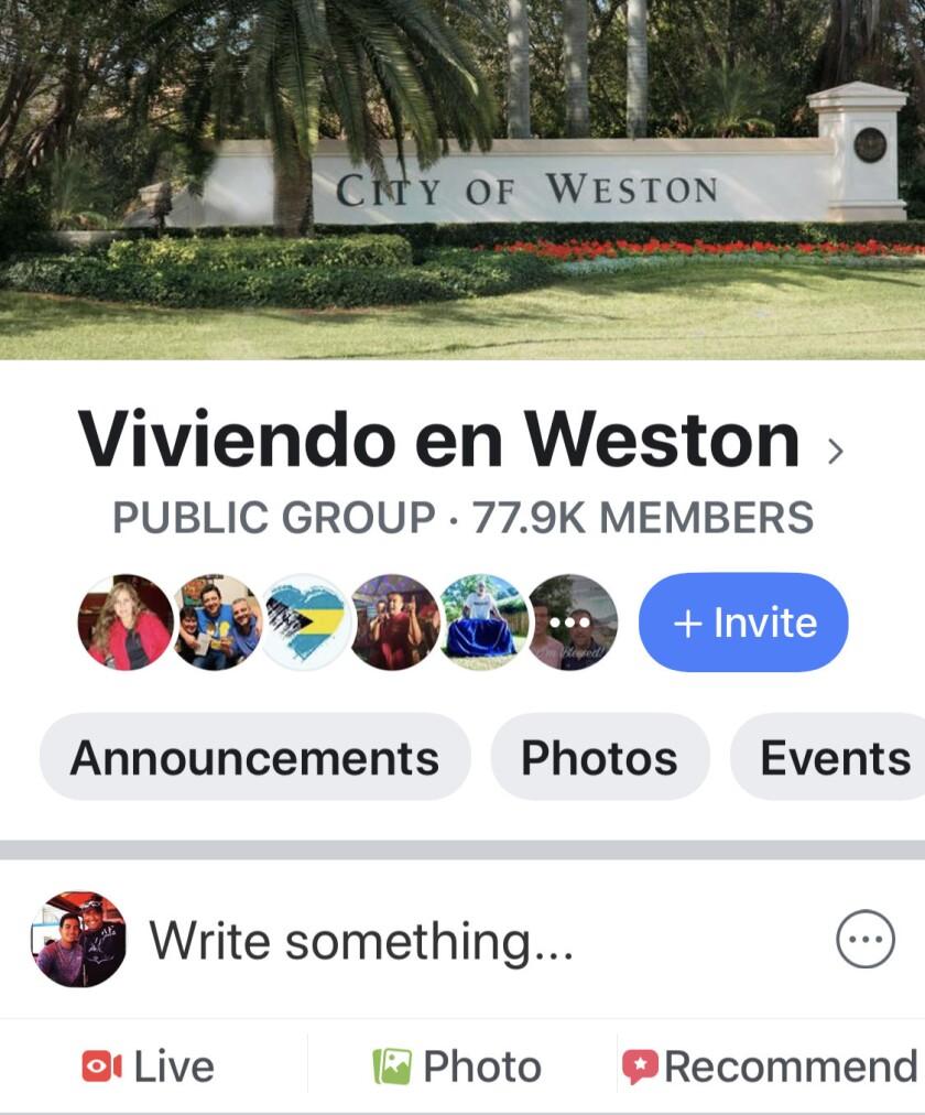 Viviendo en Weston