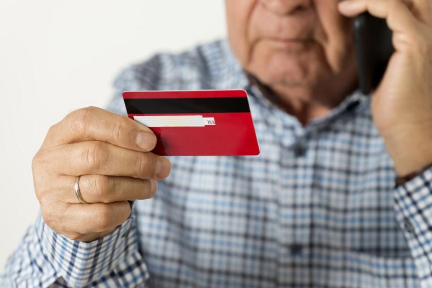 Senior Man With Credit Card