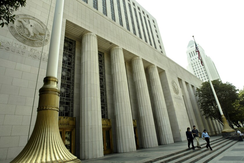 The U.S. Courthouse on on Spring Street in downtown Los Angeles.