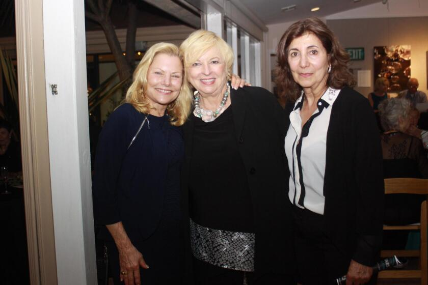 Barbara Leinenweber with artists Dottie Stanley and Nicole Caulfield, who often exhibit at the Community Center.
