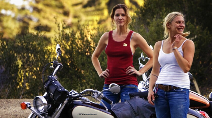 "Tricia Helfer and Katee Sackhoff -- stars of SciFi Channel's ""Battlestar Galactica."" Helfer, who plays the part of sexy cylon Number Six, and Sackhoff, a.k.a. combat pilot Starbuck, are both avid motorcyclists who will be taking their off-screen passion to guest roles on other TV shows when Season 4 of the space-age series ends."