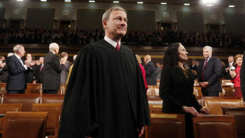 Chief Justice John G. Roberts Jr., who just heard arguments about a Muslim lockup, will swear in a president who advocated a shutdown of Muslims entering the U.S.