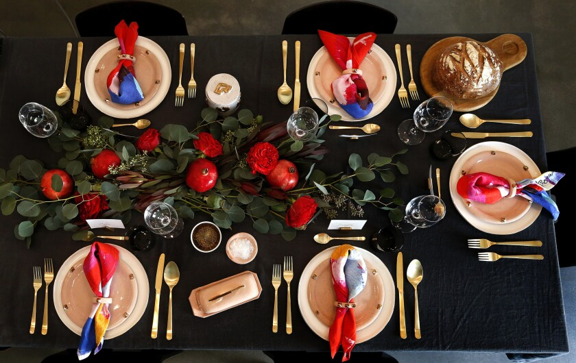A tablescape by Consort Design.
