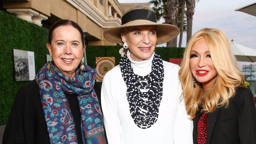 Princess Michael of Kent, center, with Elizabeth Segerstrom, right, and lady-in-waiting Lyn Rothman.