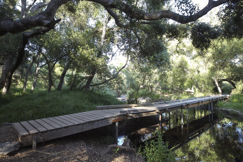 The bridge at Carson's Crossing at Los Peñasquitos Canyon Preserve on Tuesday, May 28, 2019, in San Diego. The area is near the site where a four-year-old child was attacked Monday by a mountain lion.