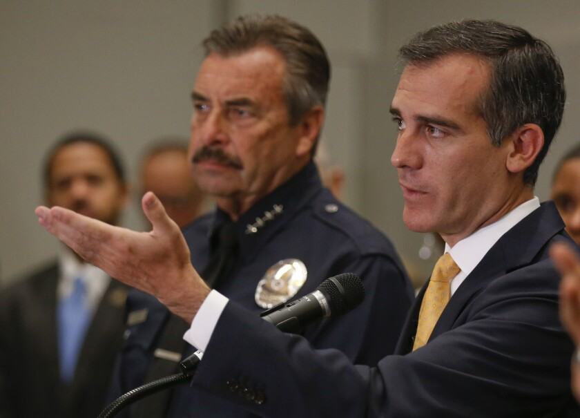 Charlie Beck and Eric Garcetti
