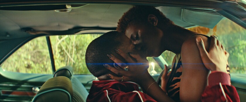 "Daniel Kaluuya and Jodie Turner-Smith in a scene from the movie ""Queen & Slim."""