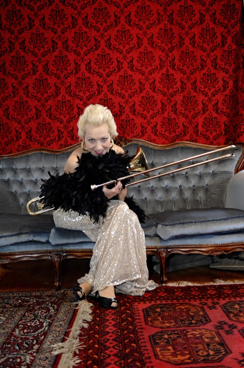 Sweden's Gunhild Carling is a singer, trombonist and bagpiper who sometimes plays three trumpets simultaneously.