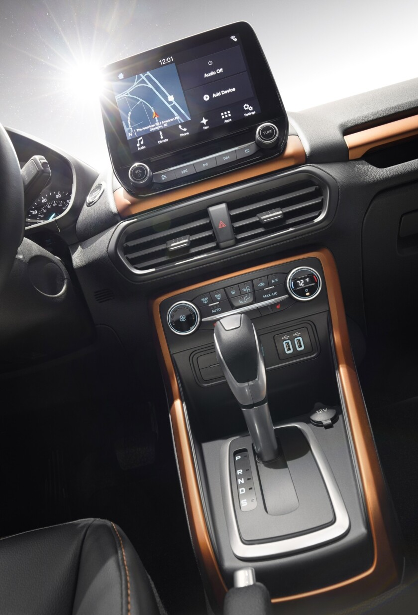 High-resolution, 8-inch floating touch screen gives front-row occupants easy access to operate avail