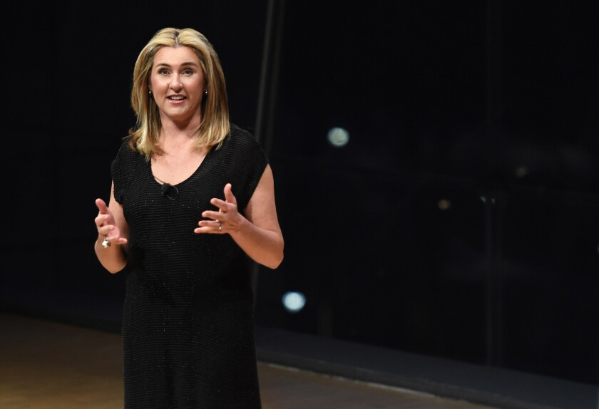 Nancy Dubuc, president and CEO of A+E Networks, seen in a March 2017 file photo, will take over as CEO of Vice Media.