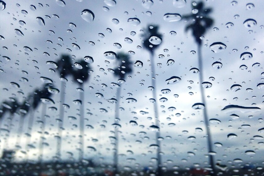 Forecasters say light rain will fall late Saturday night and early Sunday morning