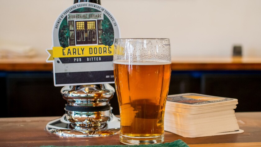 The Early Doors ale at Yorkshire Square Brewery, a new brewery in Torrance.