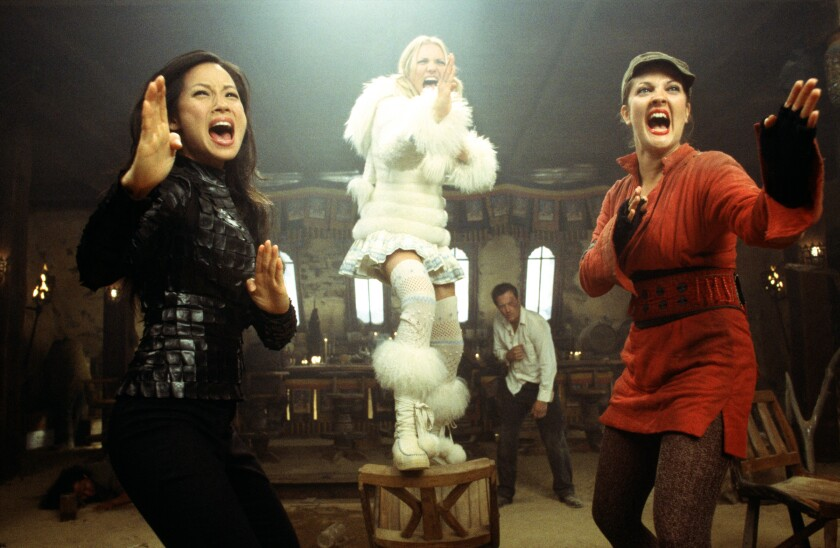Lucy Liu, Cameron Diaz and Drew Barrymore star in the exciting action sequel movie, Charlie's Angels: Full Throttle