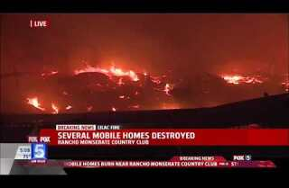 Lilac fire: Rancho Monserate Country Club