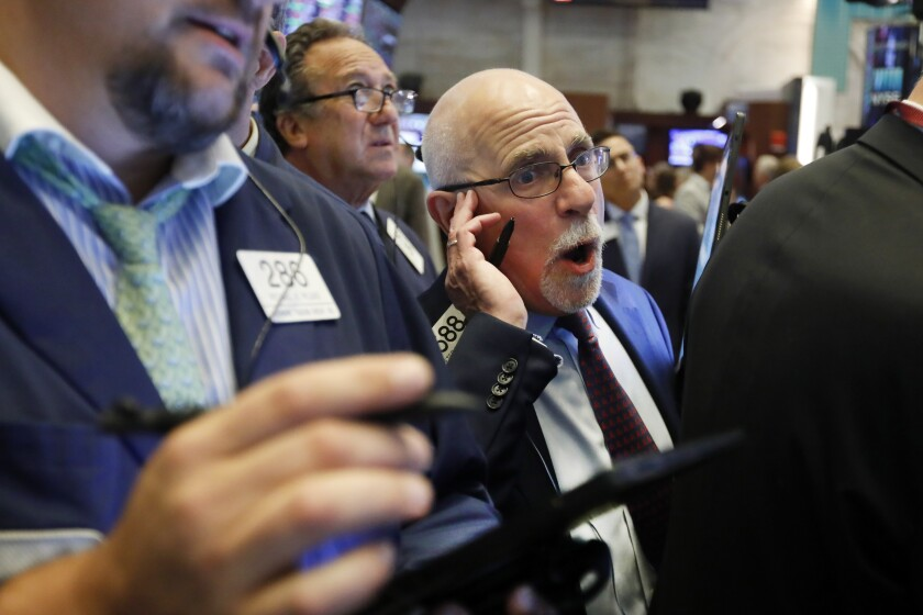 The market has been riddled with worry that the fallout from the costly trade conflict will undercut an already slowing global economy and hurt corporate profits.