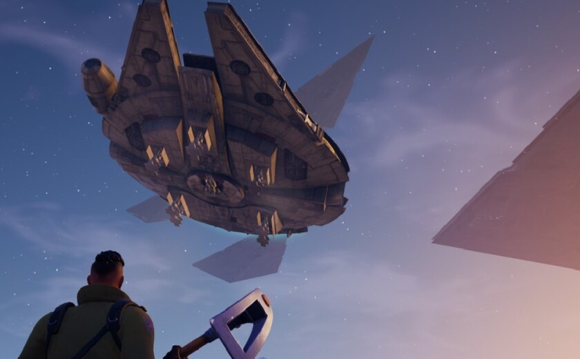 """A screenshot taken from """"Fortnite"""" during its """"Star Wars"""" event Dec. 14."""
