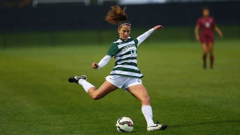 Jackie Friedman of Rancho Santa Fe playing in a Dartmouth vs. Harvard game.