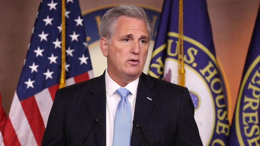 House Minority Leader Kevin McCarthy Holds His Weekly Press Conference