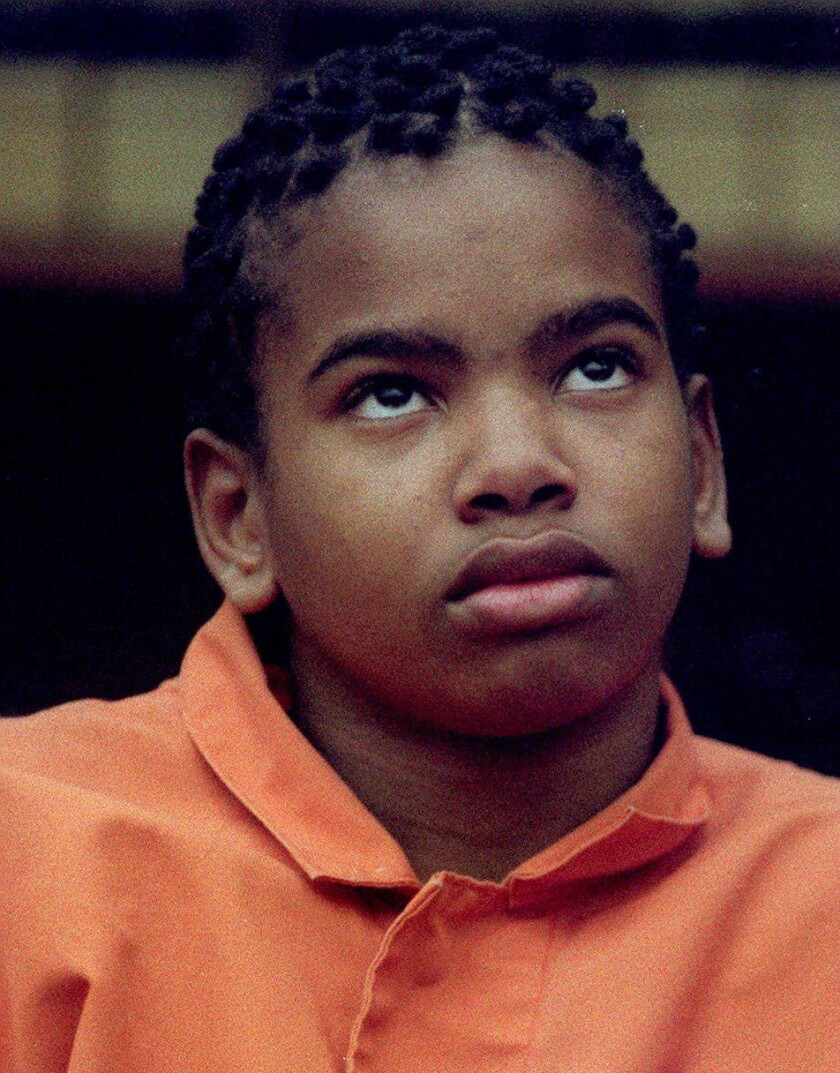 A 14-year-old Tony Hicks in a pre-trial proceeding in 1995.