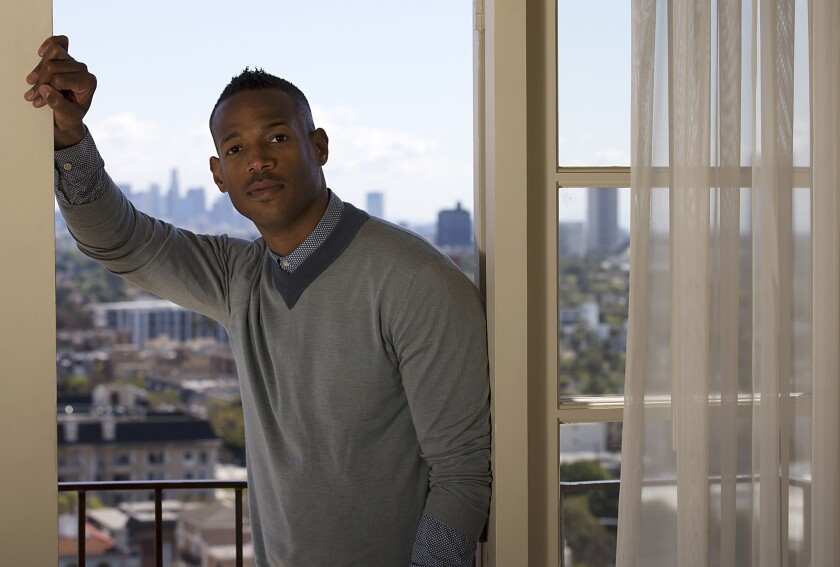 Marlon Wayans at the Four Seasons Hotel in Beverly Hills.