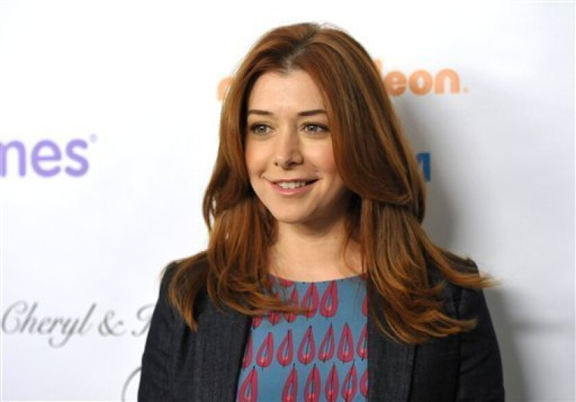 "FILE - This Dec. 7, 2012 file photo shows actress Alyson Hannigan from the CBS comedy, ""How I Met Your Mother,"" at the March of Dimes Celebration of Babies  in Beverly Hills, Calif.  A judge has ordered a New Hampshire man to stay away from Alyson Hannigan and refrain from posting about the actress"