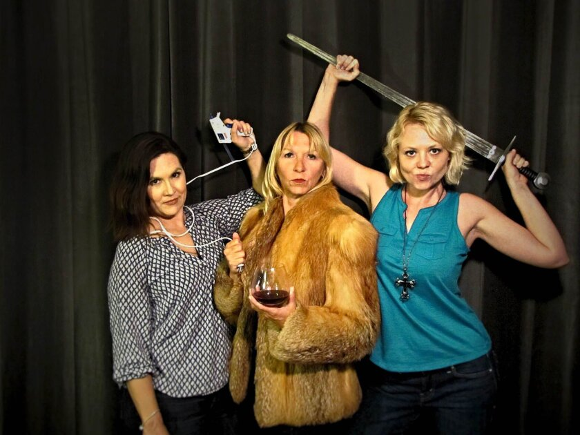 """""""My Mother's in the Audience"""" is a dark comedy about competitive stage mothers played by Wendy Waddell, Julie Sachs and Lena Jones. Courtesy photo"""