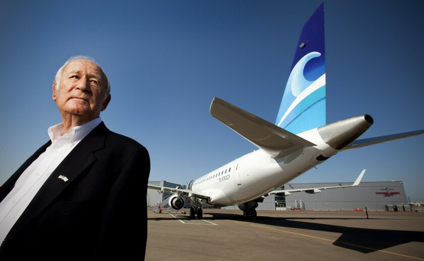 A man and his airliner: Ted Vallas and California Pacific Airlines' first jet, an Embraer 170