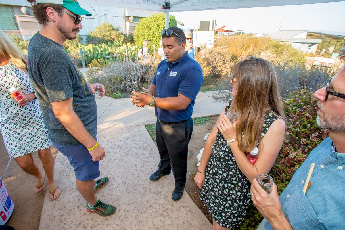 To show support for coastal wildlife and Chula Vista's Living Coast Discovery Center, more than 40 of SD's finest restaurants, breweries and wineries turned out for a night of good food and lessens in sustainability during the 8th annual Farm to Bay event on Saturday, Aug. 5, 2017. (Bradley Schweit)