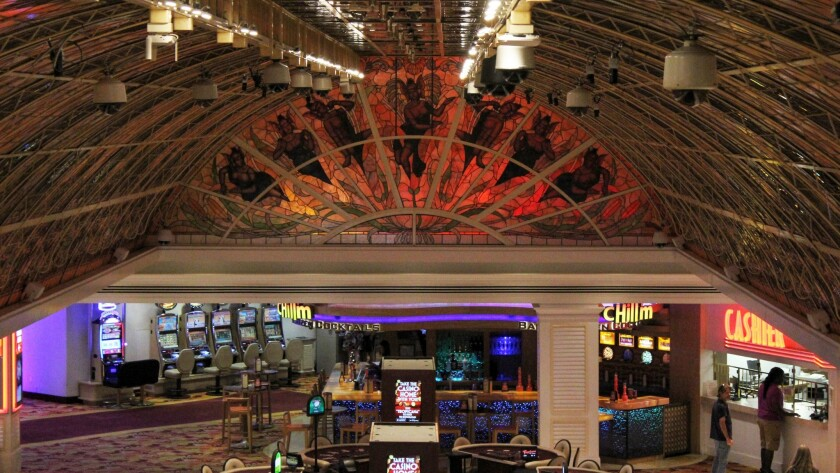If you can take your eyes away from the slots and tables at the Tropicana, you'll discover the casin