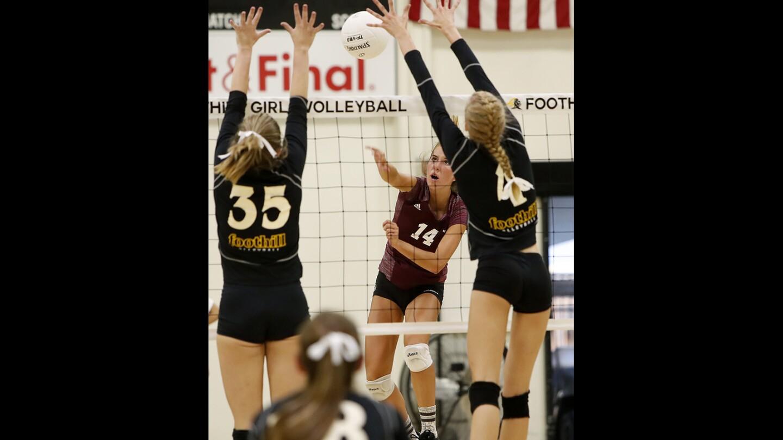 Photo gallery: Laguna Beach vs. Foothill in girls' volleyball