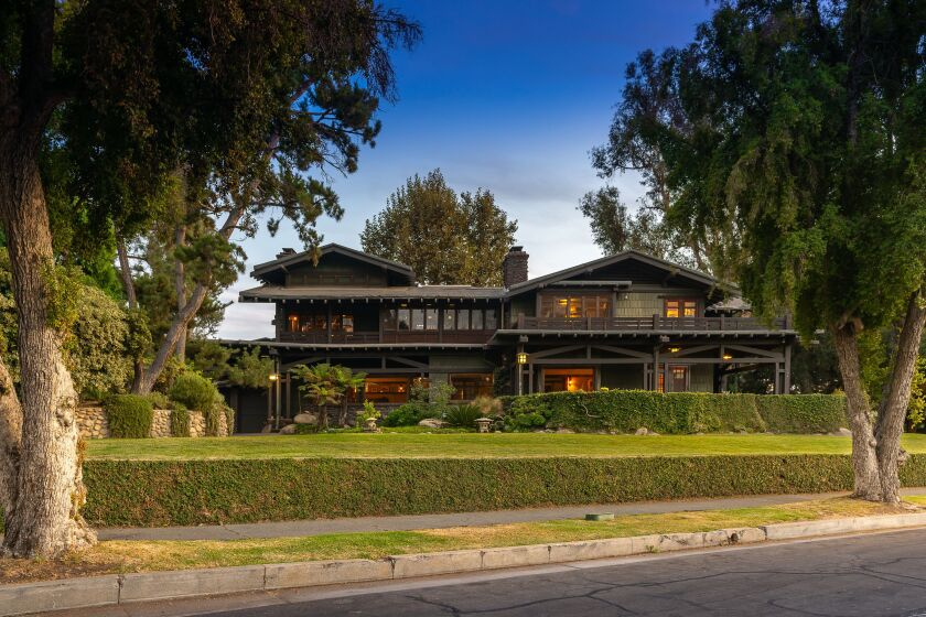 The Duncan-Irwin House, designed by Charles and Henry Greene, will be open to the public during Craftsman Weekend, 2019.