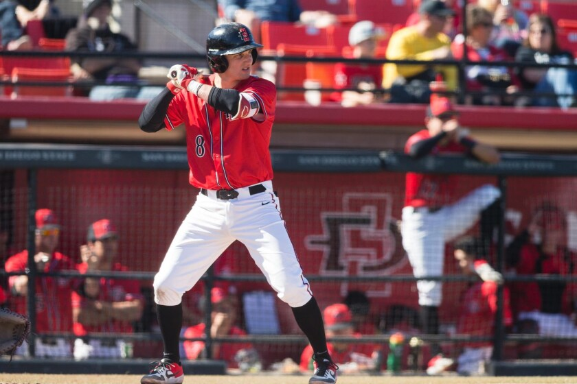 San Diego State third baseman Casey Schmitt was a three-year starter for the Aztecs out of Eastlake High.
