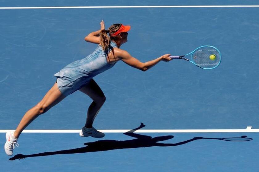 La tenista rusa Maria Sharapova hoy en el Abierto de Australia. EFE