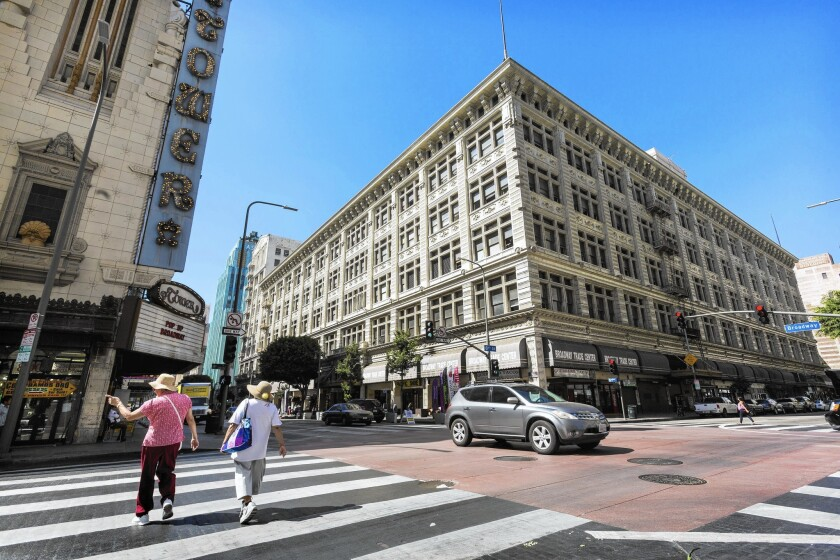 The $130-million purchase of the old May Co. department store on Broadway last month was the first L.A. purchase for New York investors Waterbridge Capital and Jack Jangana.