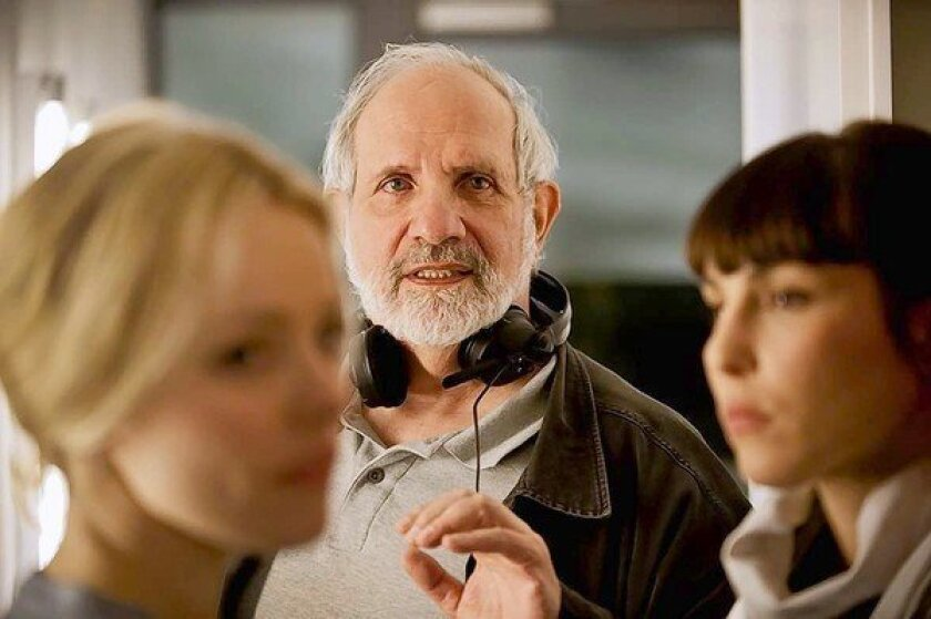 "Brian De Palma directs Rachel McAdams, left, and Noomi Repace in ""Passion."""