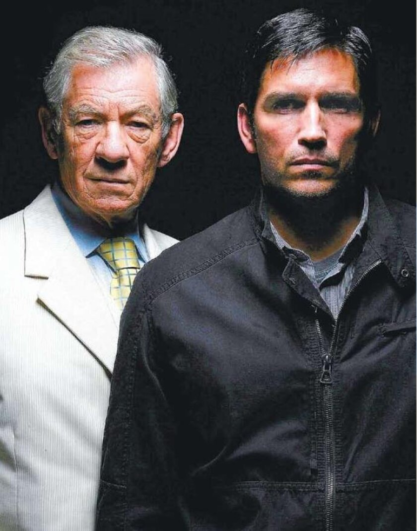 "Two (Ian McKellen, left) and Six (Jim Caviezel) star in ""The Prisoner."" The timing is right for classy show,