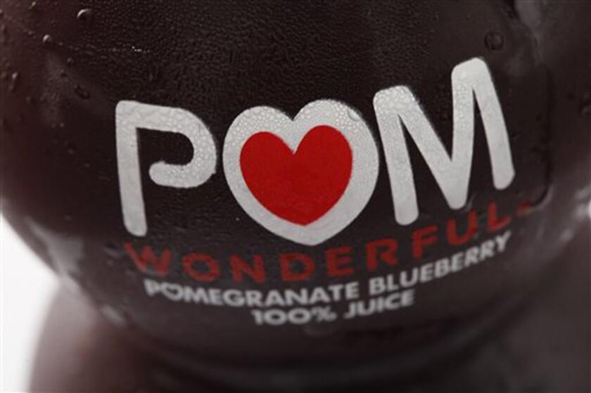 A bottle of POM Wonderful juice in Philadelphia.