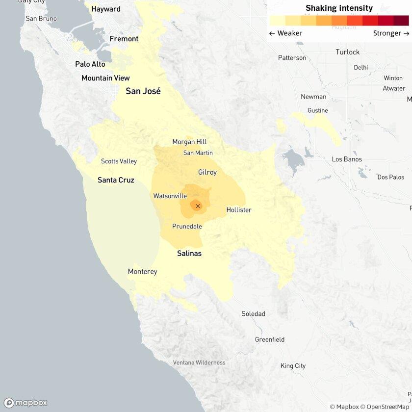 Magnitude 4.2 quake strikes near Prunedale, Calif.
