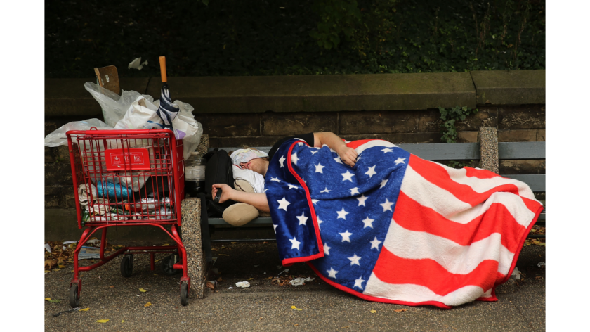 Of the 100,000 estimated homeless veterans across America, about 10,000 are female.