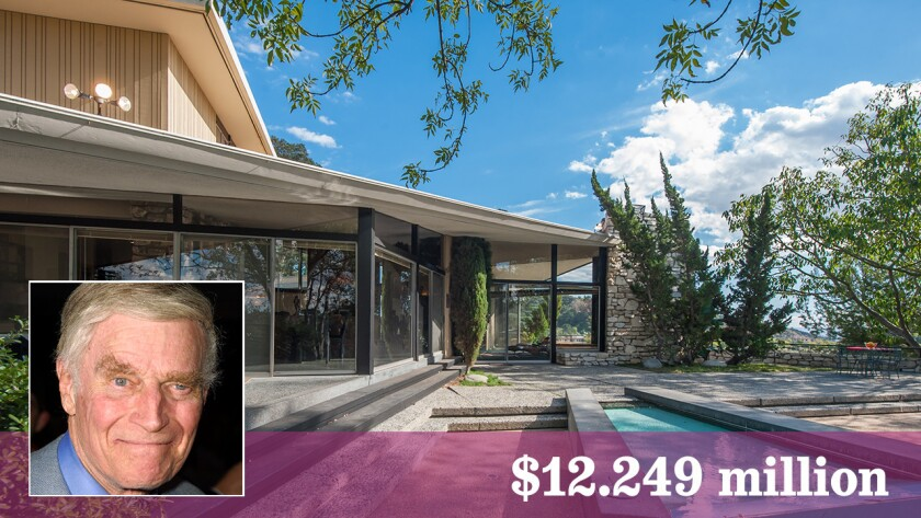 The Midcentury Modern home built for actor Charlton Heston is for sale in the Beverly Hills Post Office area.