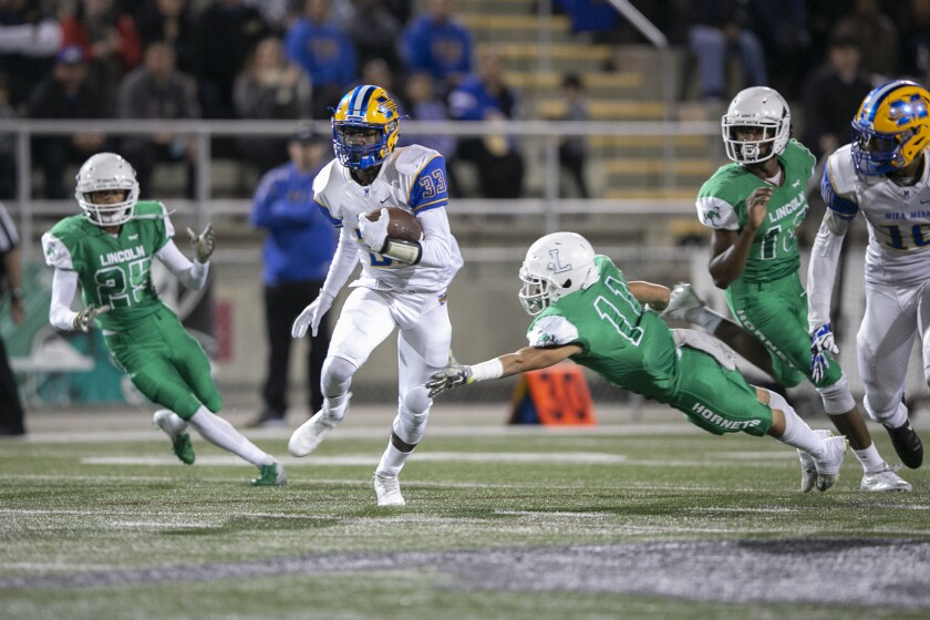 Mira Mesa's Tajon Evans was a big-play component for the Marauders, who posted a 10-3 record last season.