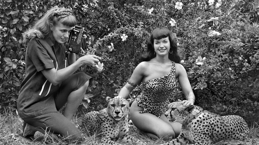 Bunny Yeager and Bettie Page