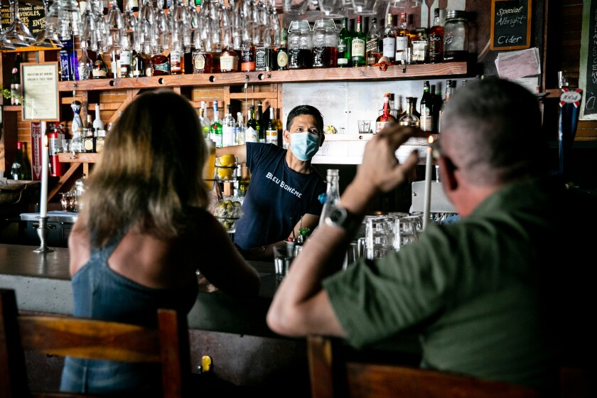 Geovani Droege, bar manager at Bleu Boheme