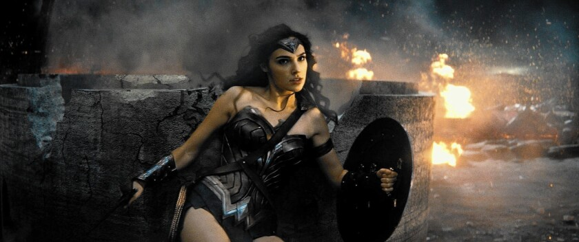 "Gal Gadot as Wonder Woman in ""Batman v Superman: Dawn of Justice."""
