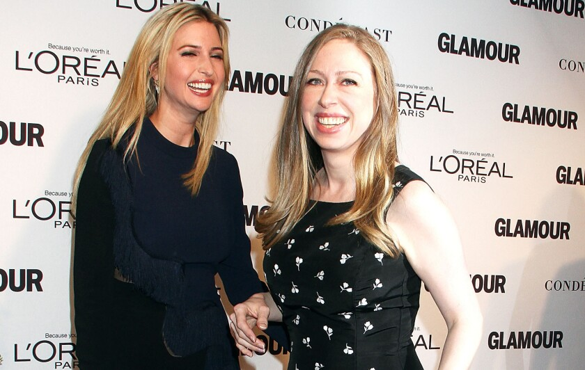 Ivanka Trump and Chelsea Clinton, who both attended the Glamour Women Of The Year awards in November, have long been friends, even as their parents go after each other as presidential-campaign rivals.