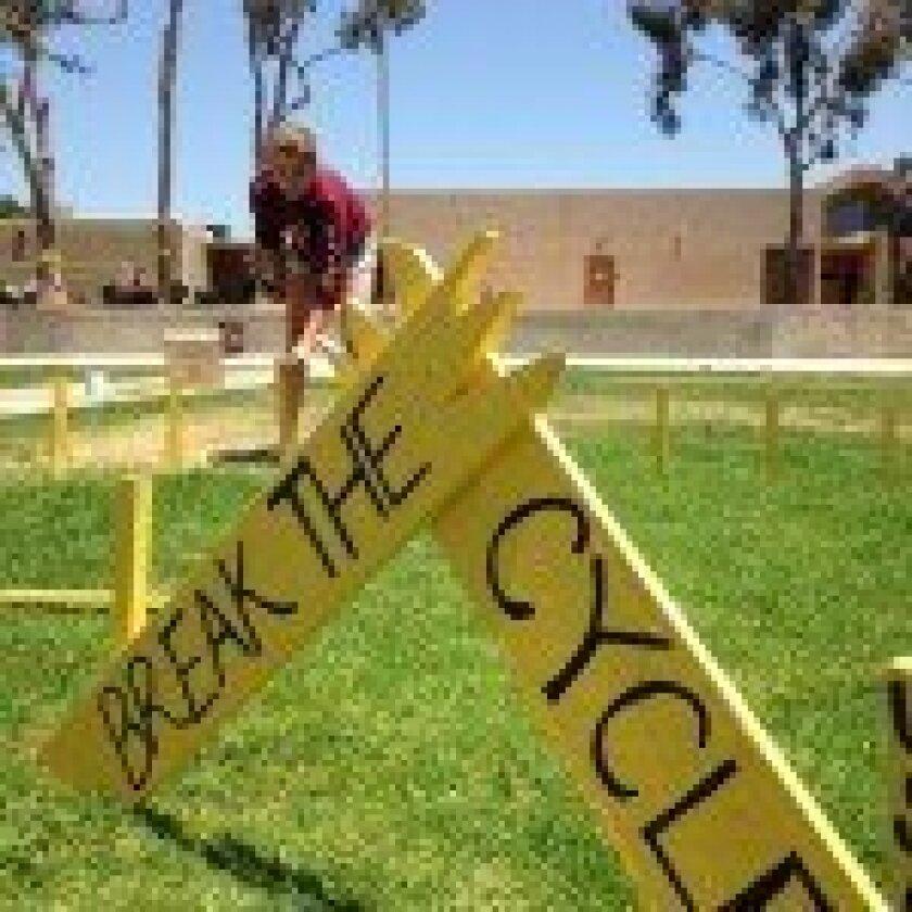 The Yellow Ribbon Week art installation at Torrey Pines. Courtesy photo