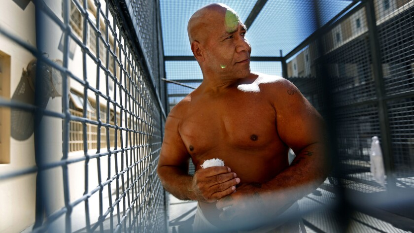 Death row inmate Paul Palalaua Tuilaepa, 51, outside at San Quentin State Prison.